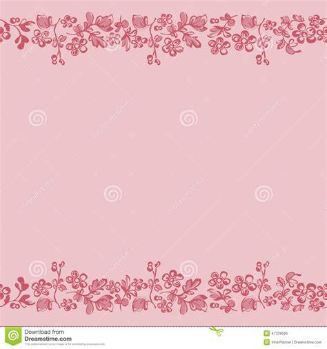 Hermosa Hawaiian Pink fundo floral borda cor de rosa da beira ilustra 231 227 o do