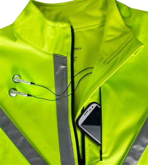 hi vis softshell cycling jacket atd high visibility full zip softshell cycling jacket w 3m