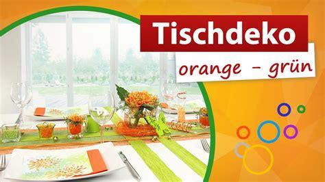 tischdeko orange tischdeko orange gr 252 n trendmarkt24 tischdekoration youtube