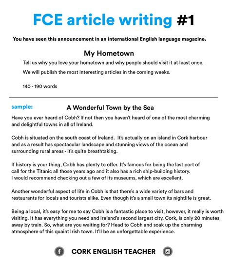 Essay Of Article by Fce Writing Sles And Essay Exles