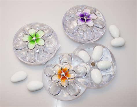 portaconfetti fiore cofanetto portaconfetti in plex con fiore vari colori