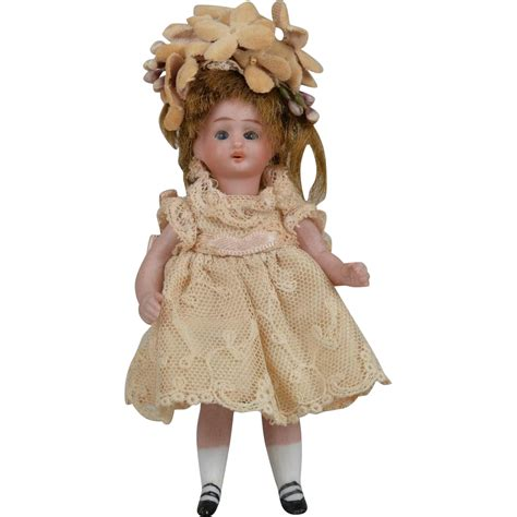 4 inch bisque doll simon halbig 887 all bisque child 4 inch from
