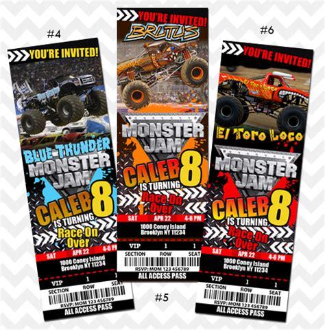 printable monster jam birthday invitations monster jam invitation on storenvy