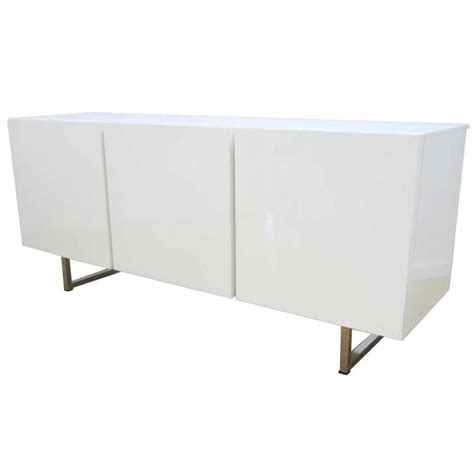 modern credenza buffet modern white lacquered credenza buffet dresser by
