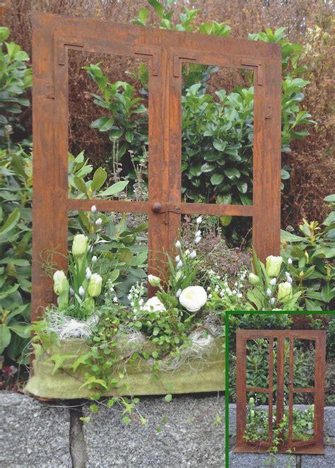 garten dekoration deko fenster 80 x 60 cm zum 214 ffnen edelrost rost