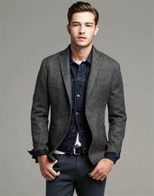 Light Blue Wool Coat How To Wear A Grey Blazer This Season The Idle Man
