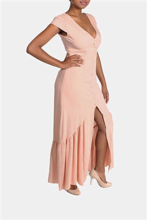 Goldie Button Dress Maxi Katun cals button maxi dress from los angeles by goldie s