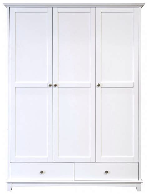 3 Door White Wardrobe With Drawers by Gfw Toulouse White 3 Door 2 Drawer Wardrobe By Gfw