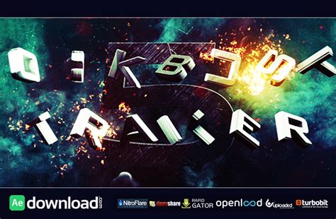 after effects templates free trailer blockbuster trailer 5 after effects project videohive