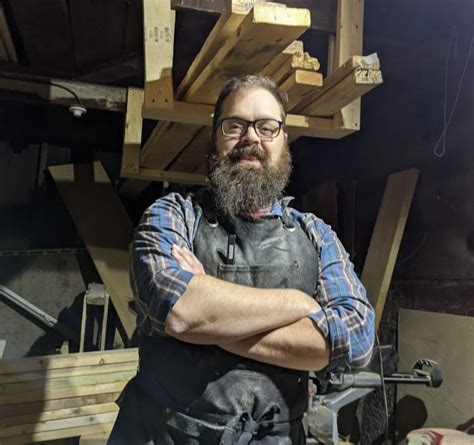 bearded builder woodworking shop iowa