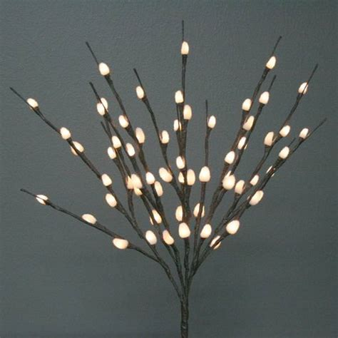 lighted twigs home decorating light garden 01089 electric willow lighted branch
