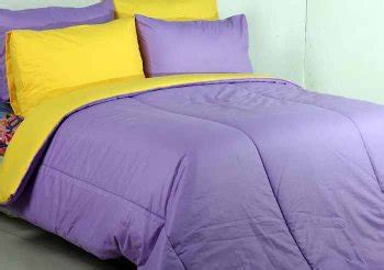 Bed Cover Aja Polos Uk 180 160 detail product seprei dan bedcover polos mix ungu kuning
