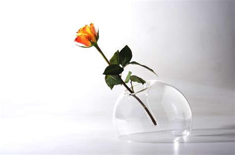 Single Flower Vase by Ugola Simply By Tilting The Object Becomes A Single
