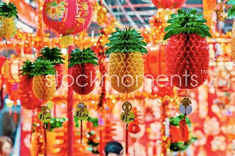 types of new year decorations pineapple lantern new year decoration