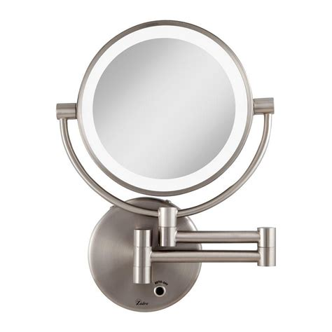 Magnifying Mirror For Bathroom Wall by Magnified Bathroom Mirror Wall Mounted Lighted Magnifying