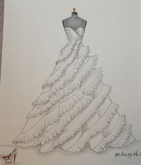Brautkleider Zeichnen by Custom Wedding Dress Sketch Wedding Dress Drawing Say