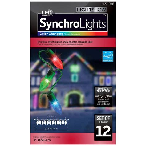 color changing led christmas lights home depot holiday christmas lightshow 12 light led multi color color