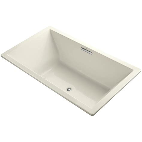 acrylic drop in bathtub kohler underscore 6 ft acrylic rectangular drop in or