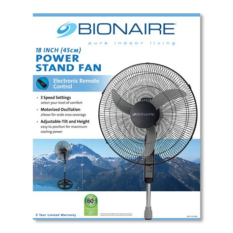 stand fan with remote bionaire 174 18 inch stand fan with remote