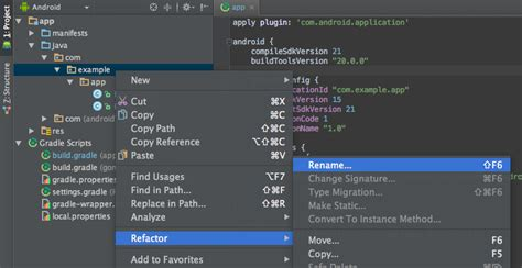 change app name android intellij idea android studio rename package stack overflow