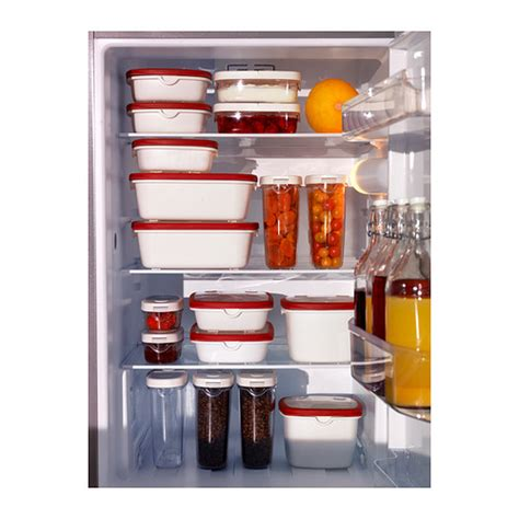 ikea food storage ikea 365 food container white red 17x17x6 cm ikea