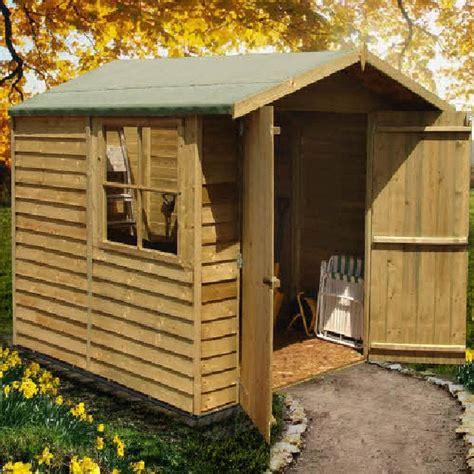Elbec Garden Sheds by Shire 7 X 7 Overlap Apex Garden Shed With Doors Elbec Garden Buildings