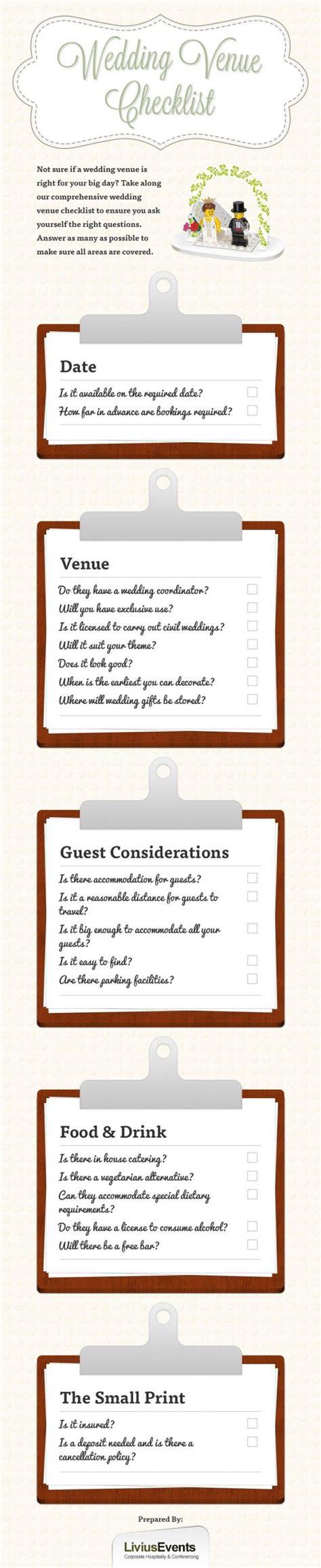 Wedding Checklist Venue by Wedding Venue Checklist Wedding Thoughts