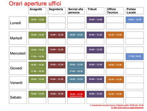 uffici anagrafe comune di orari uffici comune di mezzago