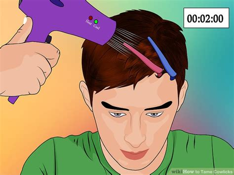 Hair Styler Dryer With Cool Setting Draw by 3 Ways To Cowlicks Wikihow