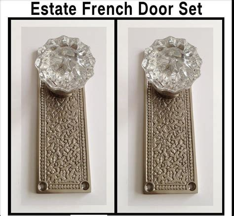 door knobs for french doors french door knob set crystal knobs on brushed nickel
