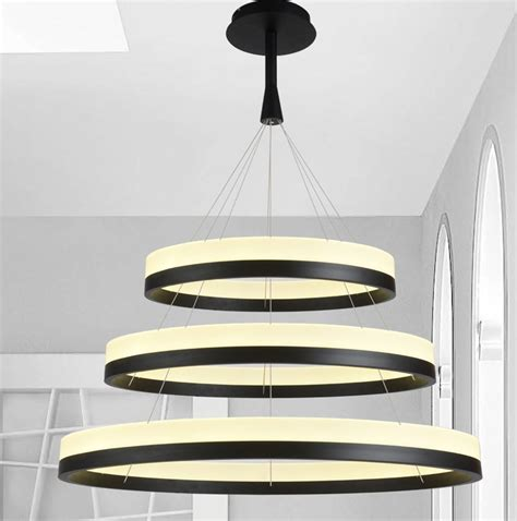 black chandeliers hanging lights lighting aliexpress buy new led acrylic chandelier fixture black remote pendant l modern
