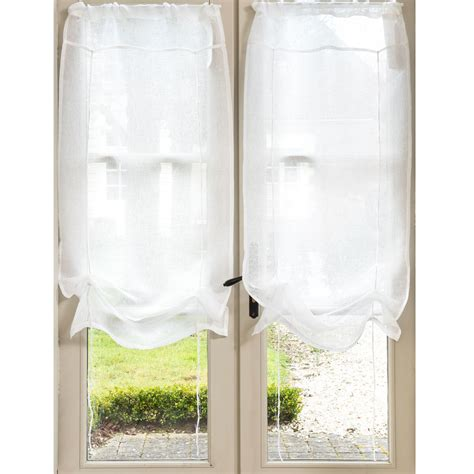 tende con laccetti tenda corta ecru in lino con laccetti 60 x 120 cm marquise