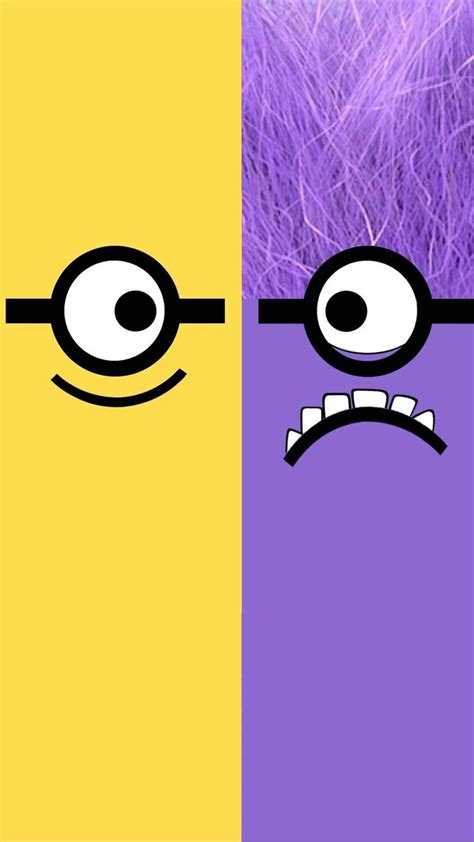 wallpaper iphone 6 hd minion despicable me yellow and purple minion iphone 6 plus
