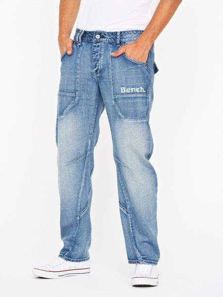 mens bench jeans bench arc fit jeans in blue for men light wash lyst