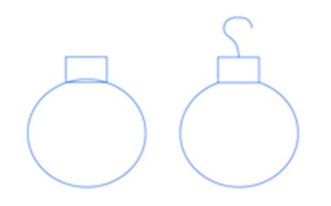 how to draw christmas ball