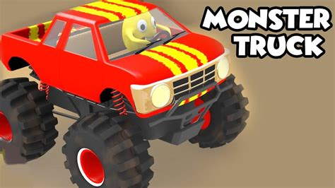 childrens monster truck videos monster truck stunts monster trucks for children 3d