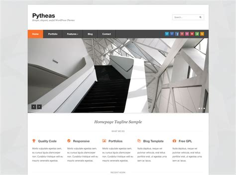 pytheas free responsive wordpress theme clean simple