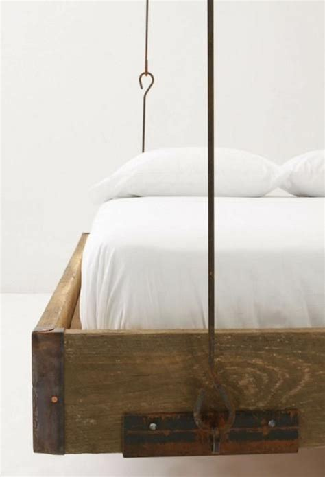 furniture barnwood hanging bed  anthropologie