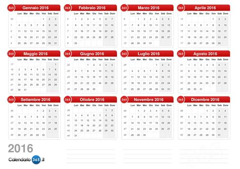 Giorni Festivi Italia Calendario 2016 Calendario Calendario 2016 Con Giorni Festivi E Ponti