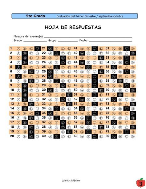 hoja de respuestas resuelta 6 grado 1 bimestre clavederespuestas bim1 11 12