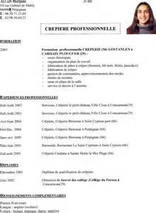 resume format model cv en francais