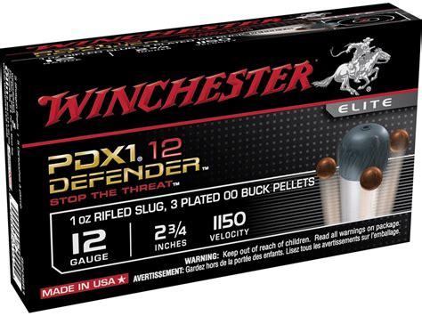 winchester pdx1 defender ammo 12 ga 2 3 4 1 2oz 00