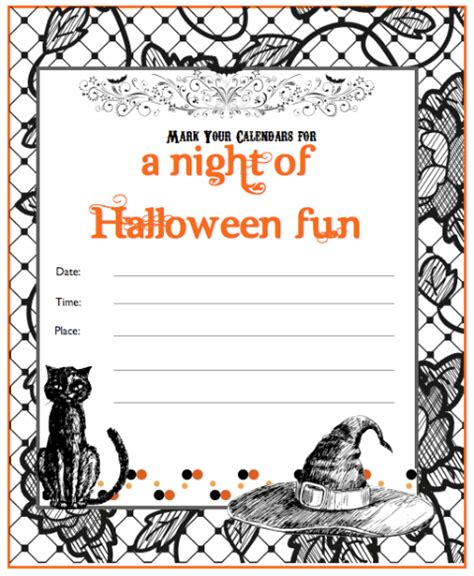 make printable halloween invitations print your own free halloween invites