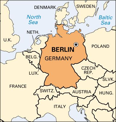 berlin germany map berlin encyclopedia children s homework help