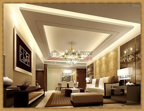 luxury living room gypsum pop fall ceiling designs
