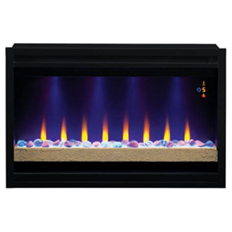 classicflame 36 in elysium infrared built in electric fireplace insert mantelsdirect