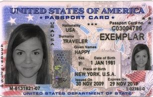 u s passport card