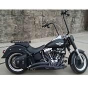 Custom 2010 Harley Davidson Flstfb Fatboy Low Flat Black