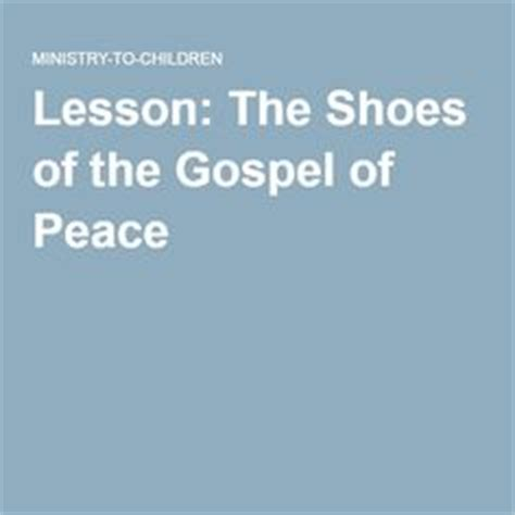 lesson the shoes of the gospel of peace children s