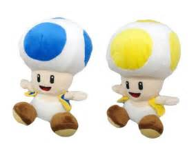 blue yellow toad from mario official sealed buddy usa mario plush